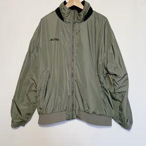 Columbia Gray Windbreaker Zip Up Jacket